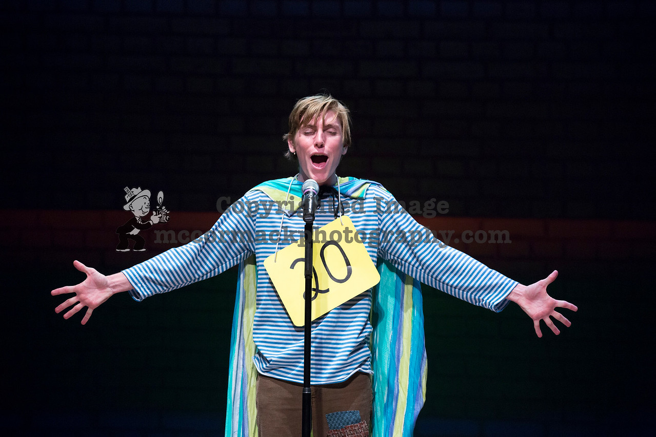 """10/5/16: Photograph taken during rehearsal of the Cypress College production of the """"25th Annual Putnam County Spelling Bee.""""  Photo jim.mccormack@mac.com"""