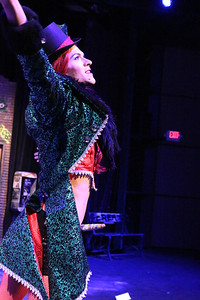 "Luke Steingruby (as Angel) singing ""Today 4 U,"" in New Line Theatre's ""RENT,"" 2014. Photo credit: Jill Ritter Lindberg."