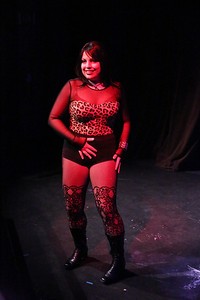 """Anna Skidis (as Mimi), singing """"Out Tonight,"""" in New Line Theatre's """"RENT,"""" 2014. Photo credit: Jill Ritter Lindberg."""
