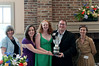 """All Round Production Excellence winner Wildwood Summer Theatre for their production of """"The Pajama Game"""".. Pictured here ae Joy Zinoman (Founding Artistic Director of Studio Theatre ),Jeanie MacAlpine, Laura Hurst, and Ian Stuart, along with Sarah Frankland (Deputy Director and Arts Manager for the British Council USA)."""