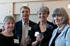 Harriet Blum (Studio Theatre), Pierre Shostal (British Players), Hilary Shostal (British Players), and Joy Zinoman (Founding Artistic Director of the Studio Theatre)