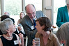 Sarah Frankland, (middle) Deputy Director and Arts Manager for the British Council USA enjoys a comment by Mike Lewis,  President of the British Players.