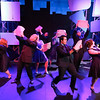 """The cast singing """"Dirt"""" in SWEET SMELL OF SUCCESS, New Line Theatre, 2017. Photo credit: Jill Ritter Lindberg."""
