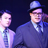 """Matt Pentecost as Sidney Falco and Zachary Allen Farmer as J.J. Hunsecker, singing """"Welcome to the Night,"""" in SWEET SMELL OF SUCCESS, New Line Theatre, 2017. Photo credit: Jill Ritter Lindberg."""