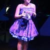 "Sarah Porter as Rita, singing ""Rita's Tune,"" in SWEET SMELL OF SUCCESS, New Line Theatre, 2017. Photo credit: Jill Ritter Lindberg."