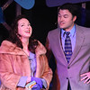"""Ann Hier as Susan Hunsecker and Matt Pentecost as Sidney Falco,  singing """"I Could Get You in J.J.""""  in SWEET SMELL OF SUCCESS, New Line Theatre, 2017. Photo credit: Jill Ritter Lindberg."""