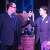 "Zachary Allen Farmer as J.J. Hunsecker and Matt Pentecost as Sidney Falco,  singing ""Psalm 151""  in SWEET SMELL OF SUCCESS, New Line Theatre, 2017. Photo credit: Jill Ritter Lindberg."