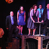 """The cast singing """"What If"""" in SWEET SMELL OF SUCCESS, New Line Theatre, 2017. Photo credit: Jill Ritter Lindberg."""