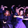 """The cast singing and dancing """"Welcome to the Night,"""" in SWEET SMELL OF SUCCESS, New Line Theatre, 2017. Photo credit: Jill Ritter Lindberg."""