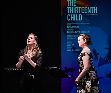 April 7, 2019 - New York, NY -The Guggenheim Museum's Works and Process series presents The Santa Fe Opera: The Thirteenth Child by Poul Ruders and Becky and David Starobin  The composer of The Handmaid's Tale, Poul Ruders, takes you behind the scenes of his latest work, The Thirteenth Child. Explore this new opera with Ruders, librettists Becky and David Starobin, director Darko Tresnjak, and costume designer Rita Ryack in anticipation of its world premiere at The Santa Fe Opera.  Cast- Kasa Borowiec, Alec Carlson, Kate Farrar, Bernard Holcomb, Alex Rosen, Brent Michael Smith, Jason Wirth   © Robert Altman  Photographer- Robert Altman Post-production- Robert Altman
