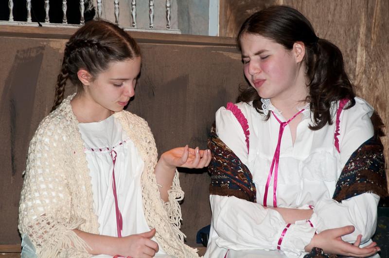 Sara Crewe at age 13: Samantha Buckley and Ermengarde St. John: Anabel Milton