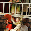 Walt Hester | Trail Gazette<br /> Zoe Heser, top, is a singing Puck while Spencer Holmes is both Nick Bottom and Captain Underpants and Chloe Burke is Titania and a time-traveling Good Queen Bess during the Soggy Noodles' version of A Midsummer Night's Dream. While the Noodles concentrated on The Bard's work, they mixed in history and modern cultural references for comic effect.