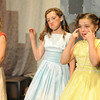 Walt Hester | Trail Gazette<br /> The daughters of King Lear, from right, Molly Morgan, Emma Laurienti and Annalise Basch, profess their love for their father. The Noodles range in age from 10-13 and most have been with the children's theatre for several years.
