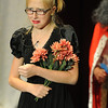 Walt Hester   Trail Gazette<br /> Aspen Turner weeps and sings as Ophelia in Hamlet during the Soggy Noodles production on Saturday. Turner was also one of three co-narrators.