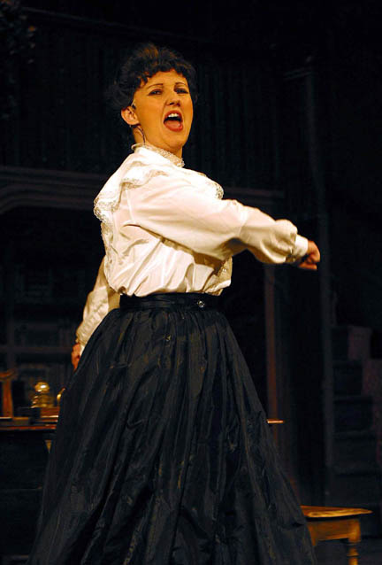 Lisa Tatler plays Eliza Doolittle in the Southport Amateur Operatic Society production of My Fair Lady at Southport Arts Centre from 21-28 Feb 2004.<br /> <br /> CREDIT:  Alan Martin   email: alanmartin@dsl.pipex.com