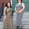 "The Stratton Players will be holding a fund raiser on Sunday at the Fay Club ""Meet at the Tony's"" in Fitchburg. Co-producers of the event Nancy Lemont and Jenny Leung  got all dressed up to promote the event on Tuesday afternoon. SENTINEL & ENTERPRISE/JOHN LOVE"