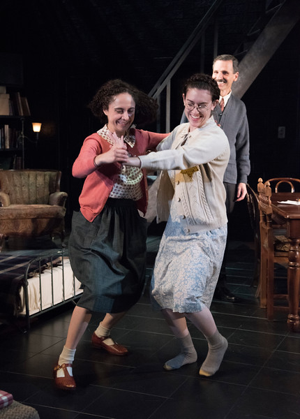 Carolyn Faye Kramer as Anne Frank and Dani Stoller as Margot Frank in Olney Theatre Center's production of THE DIARY OF ANNE FRANK. (Photo: Stan Barouh)