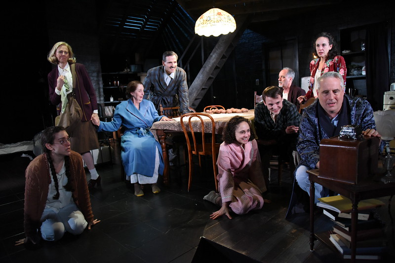 The cast of Olney Theatre Center's production of THE DIARY OF ANNE FRANK. (Photo: Stan Barouh)
