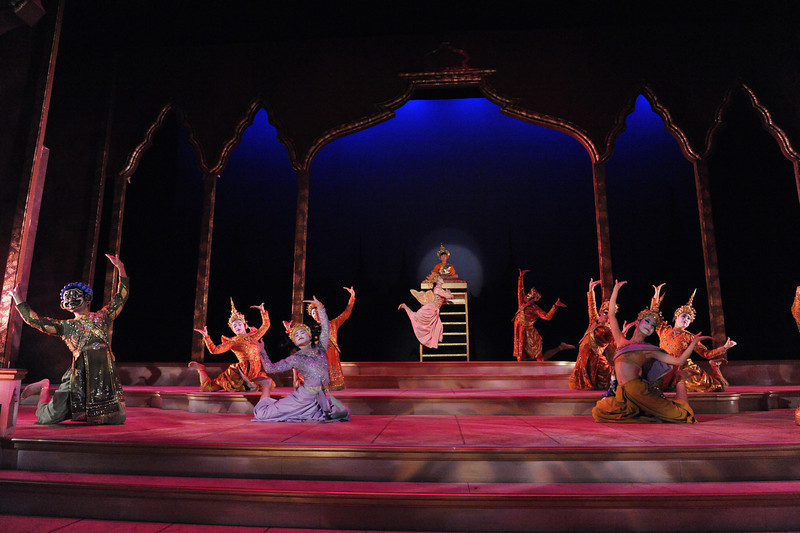 "The cast of Olney Theatre Center's production of THE KING AND I perform the ""Small House of Uncle Thomas"" Ballet. (Photo: Stan Barouh)"