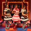 Lauren Vogel (Pitti-Sing), Dana Omar (Yum-Yum), and Amanda Raquel Martinez (Peep-Bo) in The Hypocrites' THE MIKADO at Olney Theatre Center. (Photo: Anna Danisha Crosby)