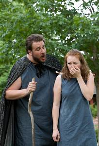 Prospero and his daughter.