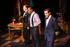 Mike Dowdy, Eeyan Richardson, and Aaron VanderYacht in New Line Theatre's THE WILD PARTY. Photo credit: Jill Ritter.