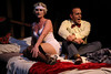 Margeau Baue Steinau as Queenie and Jeffrey Pruett as Burrs, in New Line Theatre's THE WILD PARTY. Photo credit: Jill Ritter.