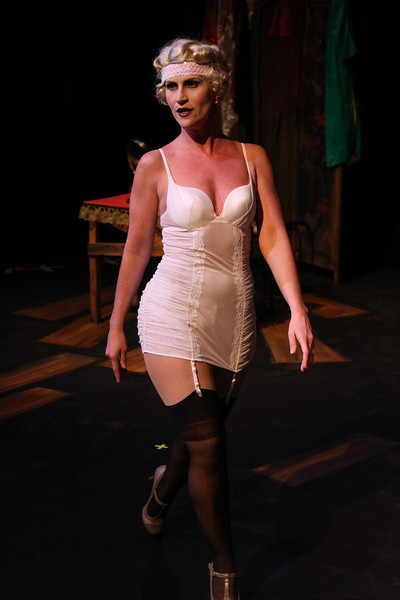 Margeau Baue Steinau as Queenie in New Line Theatre's THE WILD PARTY. Photo credit: Jill Ritter.