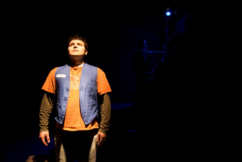 Derek Garza (Ebenn) in Mortar Theatre Company's I AM MONTANA  <br /> <br /> April 7 - May 1, 2011  <br /> <br /> Director: Rachel Edwards Harvith <br /> Scenic & Costume Design: Robert S. Kuhn <br /> Lighting Design: Justin Wardell