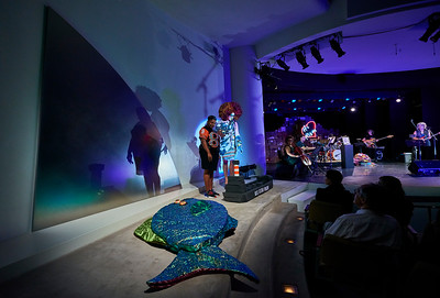 Sept.7,  2019 - New York, NY   The Guggenheim Museum's Works and Process Program presents Treasure by Machine Dazzle (né Matthew Flower)  Machine will introduce 12 new looks alongside stories stitched together through song. Treasure is accompanied by music director Viva DeConcini and her band, and will premiere made-to-measure on the occasion of New York Fashion Week.  Photographer- Robert Altman Post-production- Robert Altman