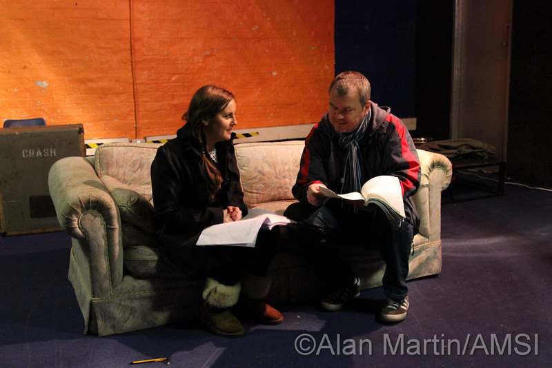 Rehearsal of new play 'Two Little Words'.