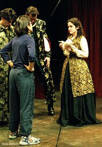 Director Daisy Walker giving instruction.