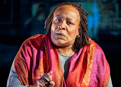 January 5, 2018 - New York, NY  Dress rehearsal of Until the Flood, NY premiere of a new solo show written and performed by Dael Orlandersmith at the Rattlestick Playwrights Theater.   Directed by Neel Keller Set Design - Takeshi Kata Lighting Design - Mary Louise Geiger Costume Design - Kaye Voyce Sound Design - Justin Ellington Projection Design - Nick Hussong  Photo Credit-  Robert Altman for Rattlestick Photographer- Robert Altman