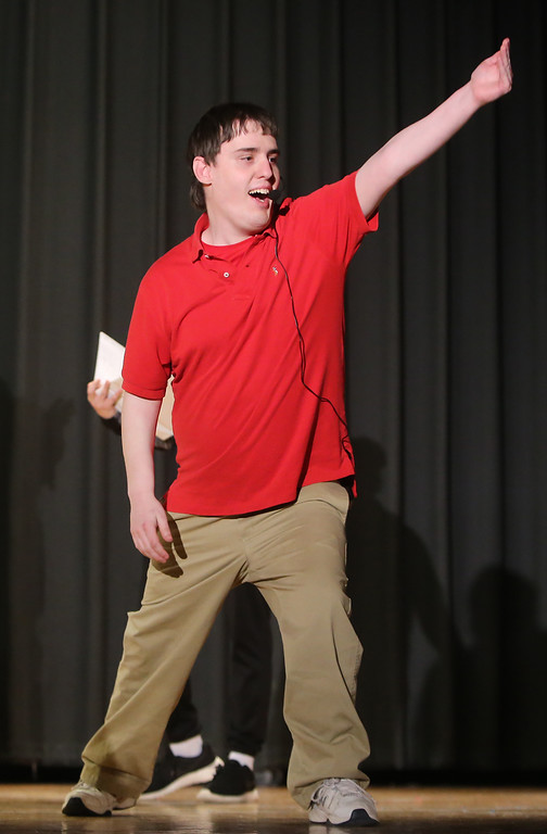 . Lucas Costain of Wilmington. Valley Collaborative Transitional High School students perform School House Rock Live! Jr. musical. (SUN/Julia Malakie)