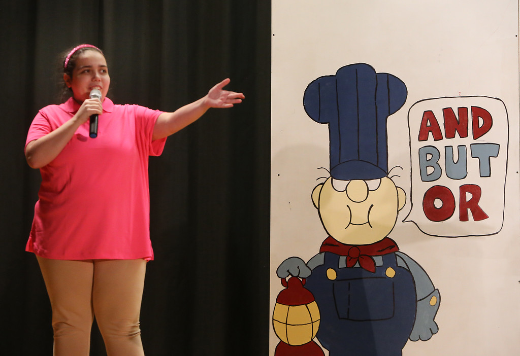 . Monica Bruni of Chelmsford. Valley Collaborative Transitional High School students perform School House Rock Live! Jr. musical. (SUN/Julia Malakie)