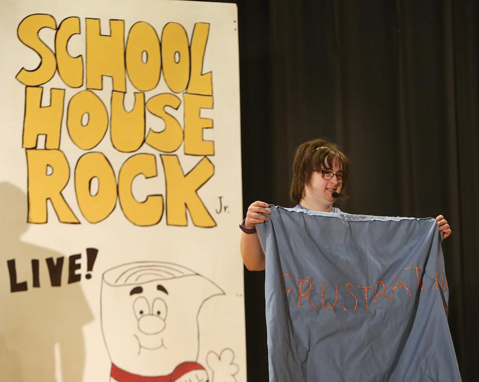 . Julia Lesnik of Wilmington. Valley Collaborative Transitional High School students perform School House Rock Live! Jr. musical. (SUN/Julia Malakie)