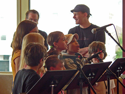 The kids singing at the sitzprobe, the 1st chance the cast has to sing with the full orchestra.