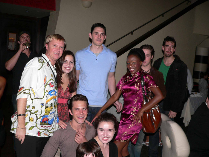 Jake's head is cut off but at least I made it in the picture for once. Gorgeous cast!