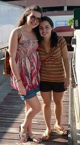 Rebecca & Justine pose for me.