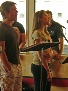 Matthew Skrincosky & Andrea Ross at the sitzprobe.