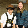 Emily Edelman and Greyson Riley after the St. Benedict production of Willy Wonka Jr.