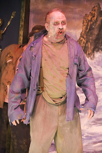 Kent Coffel as Zombie Sam,  in THE ZOMBIES OF PENZANCE, New Line Theatre, 2018. Photo credit: Jill Ritter Lindberg.