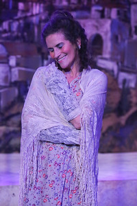 """Margeau Steinau as Madame Hortense, """"the French woman,"""" in ZORBA, New Line Theatre, 2017. Photo credit: Jill Ritter Lindberg."""