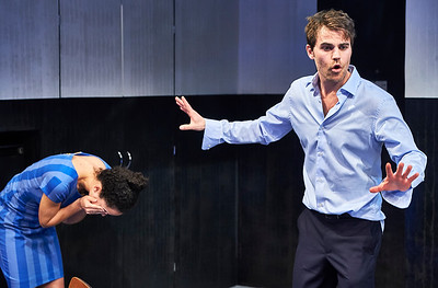 April 13, 2018 - New York, NY .  Colt Coeur presents the World Premiere of Zurich by Amelia Roper, Directed by Adrienne Campbell-Holt at New York Theatre Workshop (NYTW)  Cast- Renata Friedman, Sami Molly-Bray, Juliana Canfield, Paul Wesley, Lynne Lipton, Matthew Stadelmann, Gregory Diaz IV, Samantha Blaire Cutler, Austin Smith, Carolyn Holding.  Scenic design by John McDermott // Costume design by Tilly Grimes Lighting design by Grant Yeager // Sound design by Brendan Aanes Properties by Samantha Shner // Production management by Daniel Prosky Line Producer: Jessica Rieken // Associate Producer: Shannon Buhler  Stage Manager: Abbie Betts* // Assistant stage manager: Katie Cecil Cairns  Photographer- Robert Altman Post-production- Robert Altman
