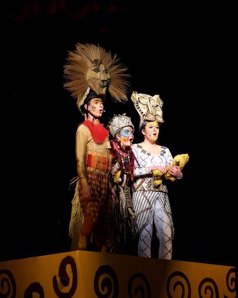 Simba, Rafiki and Nala on Pride Rock Finale