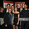 "LONDON, ENGLAND - JUNE 28:  (L to R) Cast members including Rosie Ede, Andrew Gower, Anthony O'Donnell, Joshua Higgott, Catrin Stewart, Richard Katz, Angus Wright and Daniel Rabin attend the press night after party for ""1984"" at The Mint Leaf on June 28, 2016 in London, England.  (Photo by David M. Benett/Dave Benett/Getty Images)"