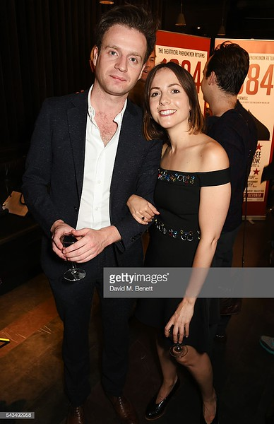 "LONDON, ENGLAND - JUNE 28:  Cast members Andrew Gower (L) and Catrin Stewart attend the press night after party for ""1984"" at The Mint Leaf on June 28, 2016 in London, England.  (Photo by David M. Benett/Dave Benett/Getty Images)"