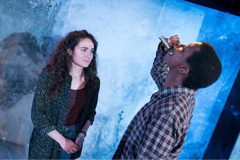 'Actually' Play performed at the Trafalgar Studio, London, UK
