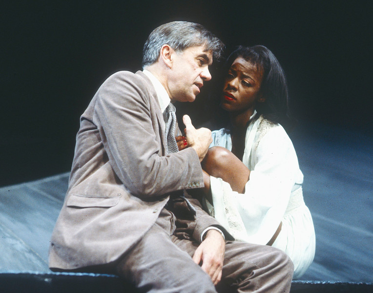 'After the Fall' Play performed in the Cottesloe Theatre, at the National Theatre, London, UK 1990