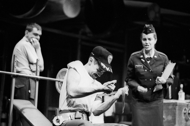 'Airbase' play by Malcolm McKay performed by Oxford Playhouse Company, UK in 1985